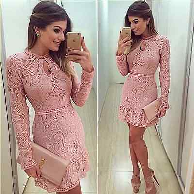 New Women Bodycon Cocktail Lace Formal Dress Ladies Evening Party Bandage Dress