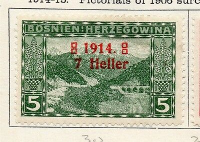 Bosnia Herzegovina 1914-15 Early Issue Fine Mint Hinged 7h. Surcharged 089441