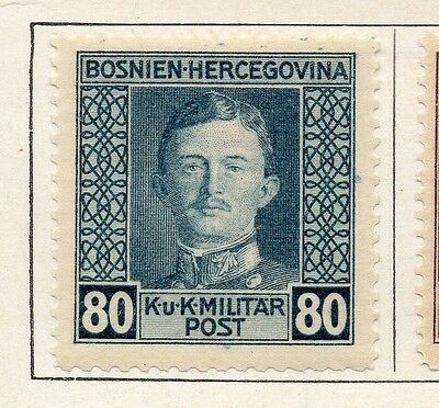 Bosnia Herzegovina 1917 Early Issue Fine Mint Hinged 80h. 089475