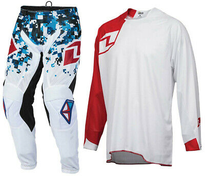 2016 ONE INDUSTRIES ATOM MOTOCROSS KIT DIGITAL CAMO WHITE BLUE RED pants jersey