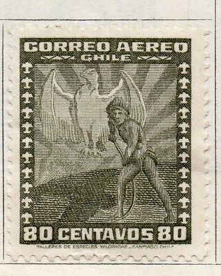 Chile 1934-36 Early Issue Fine Mint Hinged 80c. 089766