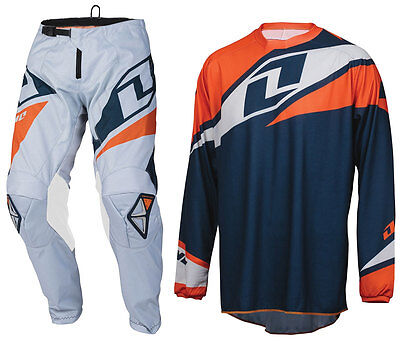 2016 ONE INDUSTRIES ATOM MOTOCROSS MX KIT NAVY ORANGE enduro bike pants jersey