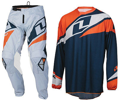 ONE INDUSTRIES ATOM MOTOCROSS MX KIT NAVY ORANGE enduro bike pants jersey