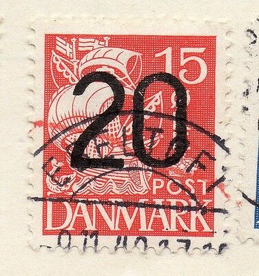 Denmark 1935 Early Issue Fine Used 20ore. Surcharged 089842