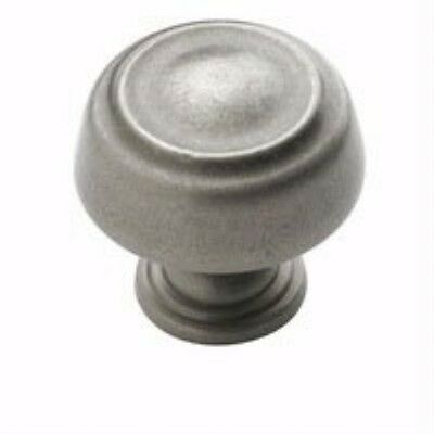 "Amerock BP53700-WN Kane 1-1/4"" Round Cabinet Knob, Weathered Nickel"