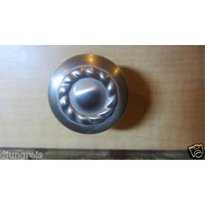 "New Amerock 1-1/4"" Satin Nickel Round Rope Cabinet Knob  BP1585-G10"
