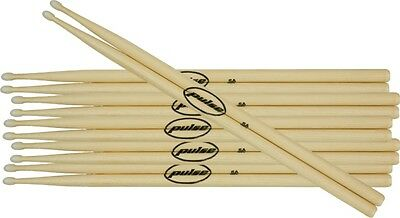 Pulse Drumsticks 6 Pair Pack Wood 5A