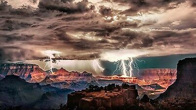Grand Canyon Lightening 8X10 Glossy Photo Picture Image #2
