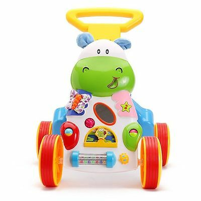 Baby Activity Walker Infant Toys Learning Center Toddler Pushing Walk With Music