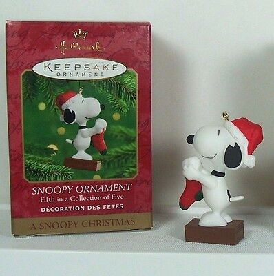 Hallmark Snoopy Christmas Ornament Hanging Stocking #5 of Five in Series