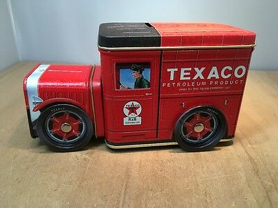 TEXACO RED FIRE ENGINE LITHO TIN COIN BANK - NO 2 IN SERIES By R&B COLLECTIBLES
