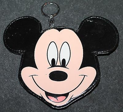 Nice Mickey Mouse Head Key Ring Coin Purse Zipper Back