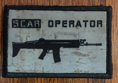 SCAR Operator Morale Patch Tactical Military Army Hook Flag USA