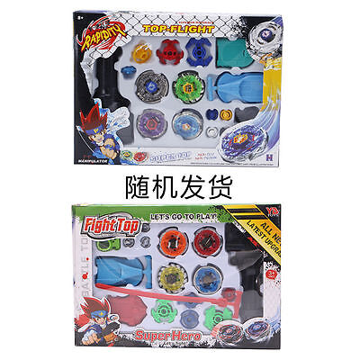 Fusion Top Metal Master Rapidity Fight Rare Beyblade 4D Launcher Grip Set New