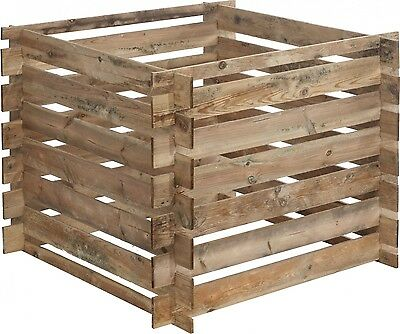 Wood Composter Mezzito 480 Litres Quick Forest Style 100x100x72