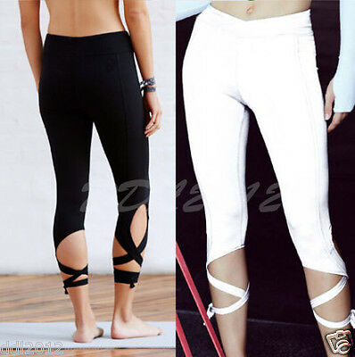 Women Sports Gym Yoga Workout Cropped Leggings Fitness Lounge Athletic Pants