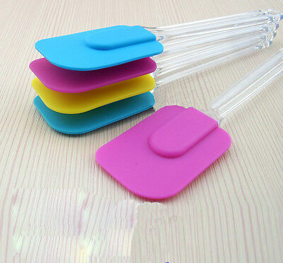 Silicone Kitchen Cake Cream Spatula Mixing Scraper Brush Butter Baking Tool HF
