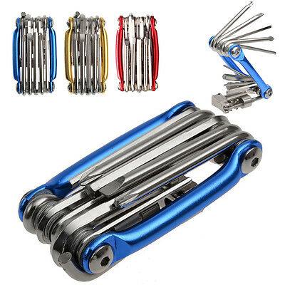11 in 1 Bicycle Bike Cycling Multi Function Chain Cutter Wrench Repair Tool Kit