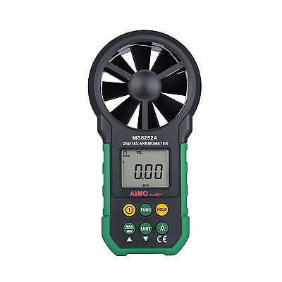AIMO MS6252A Wind Speed Meter Digital Anemometer Air Volume Measuring Meter