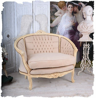 French Sofa Armchair Vintage Shabby Chic