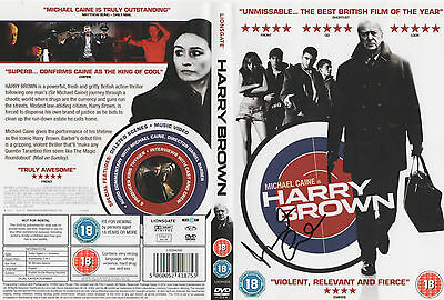 HARRY BROWN - signed DVD COVER -  MICHAEL CAINE who played the title role