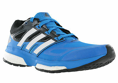 8d0696a94af71 Adidas Response Boost Techfit Mesh Ortholite Running Black Blue Kids  Trainers