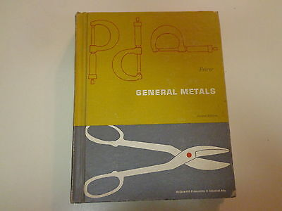 General Metals 2nd Edition 1959 Sheet Metal Machinist Casting School Textbook