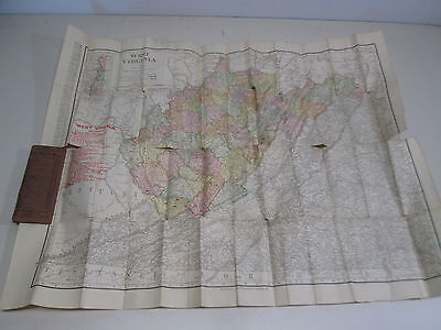 1906 Rand McNally Vest Pocket Map of West Virginia