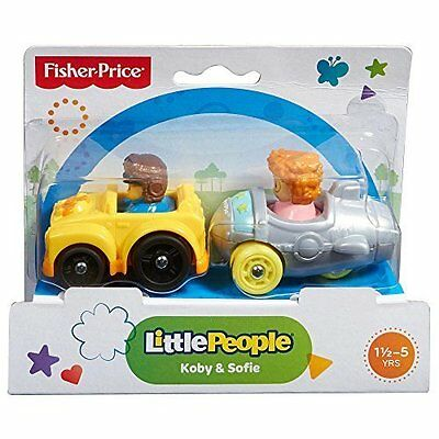 Fisher Price Little People Wheelies 2 Pack - Koby & Sofie - BFT91 - New