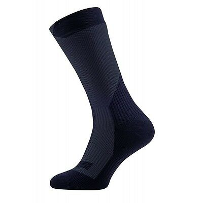 SealSkinz Trekking Thick Mid Waterproof Socks - Black / Anthracite