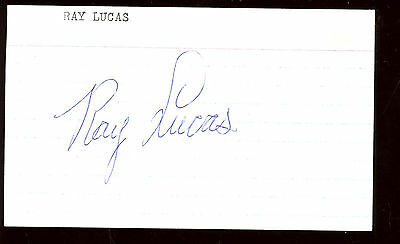 Ray Lucas Autographed Index Card Hologram
