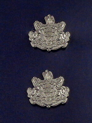 Pennsylvania Coat of Arms Collar Pins Silver/Nickel Small PA crest police
