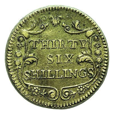 English Brass Coin Weight For Portuguese 4 Escudos  Thirty Six Shillings