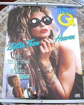 STACEY Q Better Than Heaven 1986 promo poster 34 x 23  original