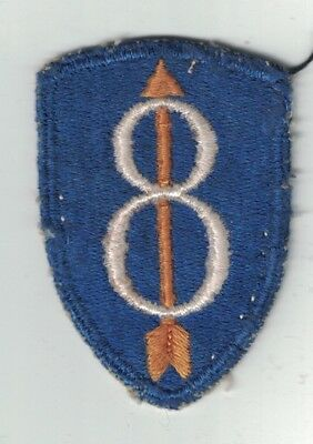 WWII Original US Army 8th Infantry Division Patch Cut Edge Pathfinder As Removed