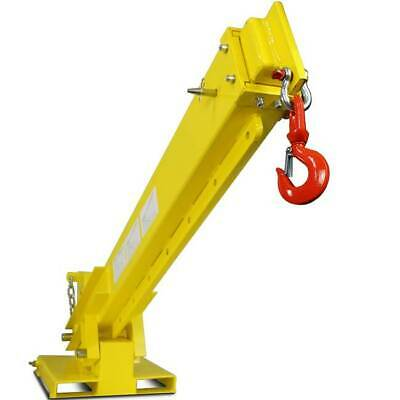 Titan Forklift Adjustable Mobile Crane Lifting Hoist Truss Jib Boom Hook 6000lb