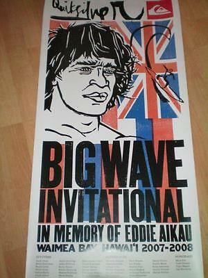 2007-2008 EDDIE Aikau WOULD GO OFFICIAL POSTER SURFING contest HAWAII Quiksilver