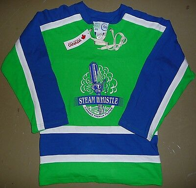 """NEW  Steam Whistle Pilsner Beer Lace Up """"Med"""" Hockey Jersey  c/w Tags"""