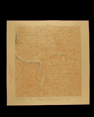 Philo Ohio vintage 1948 original USGS Topographical chart