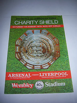 1979 CHARITY SHIELD - ARSENAL v LIVERPOOL - FOOTBALL PROGRAMME