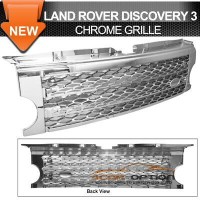 R/&L Racing 05-09 for Lr3 Discovery 3 Gray Honeycomb Mesh Front Hood Grill Grille Abs