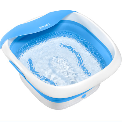 Homedics Collapsible Foot Spa with Heat, massaging bubbles, & heat maintainence