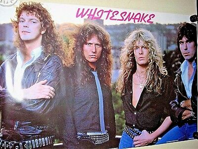"""Whitesnake - Original vintage UK poster - Exc. new cond. - size approx. 24 x 34"""""""