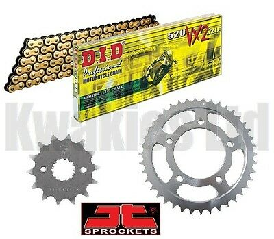 Honda VFR800 Non-ABS 2002-2009 DID Gold & Black X-Ring Chain & JT Sprockets
