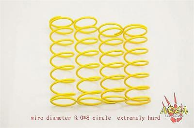 Losi 5IVE Xtra Hard Shock Spring 3.0 x 8 yellow Set (4) by Area RC fit Losi5 LT