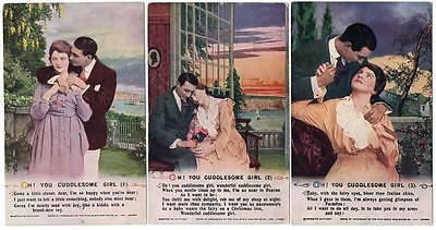 3  WW1 BAMFORTH SONG CARDS Oh You Cuddlesome Girl  No 5001 Postcards