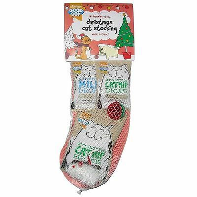 Good Girl Christmas Cat Stocking Xmas Treat Treats Toy Toys PLay Kitten xmas