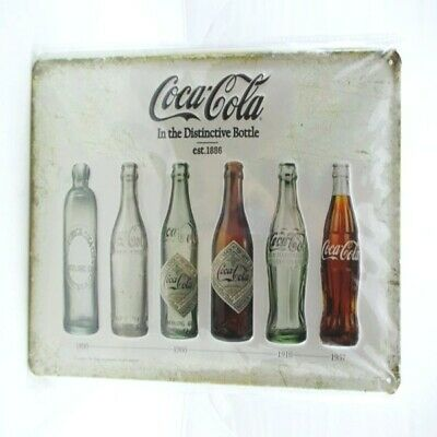 Blechschild Coca Cola 6 Flaschen Metall Schild 30 cm,Nostalgie Metal Shield