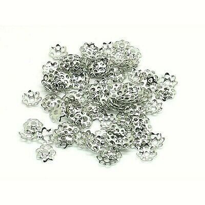 100 Bead Caps 6mm Antique Silver Tone Jewellery Findings J11104