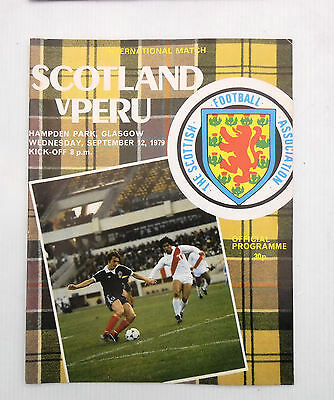 SCOTLAND v PERU HAMPDEN PARK 12 SEPTEMBER 1979 FRIENDLY INTERNATIONAL
